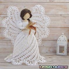 anioły ażurowe szydełka.  pomysły