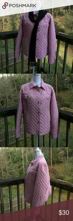 Crazy Horse by Liz Claiborne Quilted Jacket Pink XL Snap closure Very warm Truest color is shown in last 4th and 5th pictures Crazy Horse by Liz Claiborne Jackets & Coats