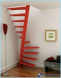 סוגי המדרגות לעליית הגג: א מתוך פי, ספירלה, מדרגות-האץ