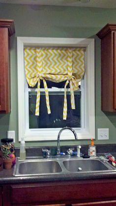 Super easy roman shades with velcro