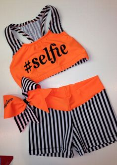 Customized cheer practice outfit by TooFlippinCutebyBarb on Etsy