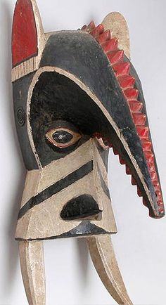 Famous abstract African Igbo Elephant mask from Nigeria