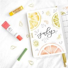 50+ July Bullet Journal Ideas To Inspire You | Best Bullet Journal Spreads | bullet journal cover page idea for this July. Find more than bullet journal inspiration on this post of 50+ Bullet Journal idea for this July. #bulletjournalinspiration #bujolove #bulletjournalinspo #bulletjournalideas