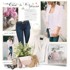 How To Wear Denim and Pearls Outfit Idea 2017 - Fashion Trends Ready To Wear For Plus Size, Curvy Women Over 20, 30, 40, 50