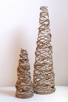Twine Trees--these would be cute with a little paper star on top