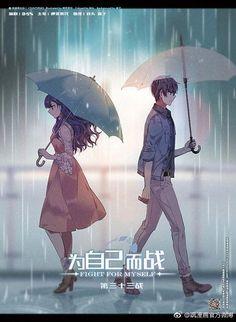 Manga Couple Fight For Myself Chap 33 Anime Couples Drawings, Anime Couples Manga, Chica Anime Manga, Otaku Anime, Anime Couples Fighting, Best Romance Anime, Anime Reccomendations, Anime Fight, Cute Anime Coupes
