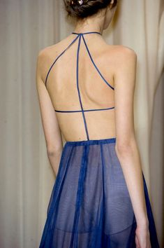 #Valentino Spring 2015 ~ETS #chiffon #blue #sublimefashion