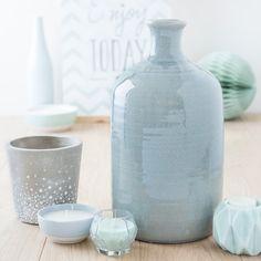 Vase en grès H 34 cm TROPEA | Maisons du Monde