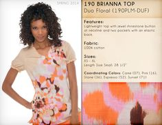 190 BRIANNA TOP   190PLM-DUF (Duo Floral)
