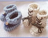 Num. 5, booties, CROCHET PATTERN, Crocheted Darling Baby High-Top Bootie BOOTS.   Unisex style.