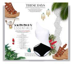 """Summer Essentials: Bikini"" by railda-pereira ❤ liked on Polyvore featuring Barneys New York, Nearly Natural, Laura Cole, Araks, Pamela Love, Melissa Joy Manning, NARS Cosmetics, Summer, blackandwhite and Brazilian"