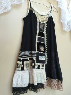 Upcycled Women's Clothing Wearable Art Shabby Boho by Cathrineann