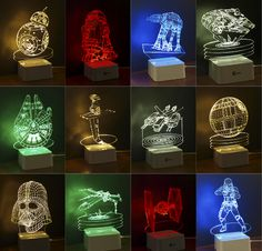 Creative Gifts Star Wars Lamp 3D Night Light Robot USB Led Table Desk Lampara as Home Decor Bedroom Reading Nightlight US $21.50