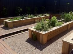 Slim garden beds take up little space and allow the homeowners to reap the benefits of homegrown food.