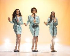 Dreamgirls (with Karen Holness, left) follows a Motown trio loosely based on the Supremes.