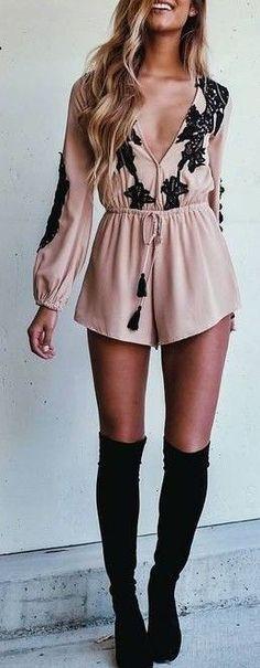 #summer #fashion / boho playsuit + boots
