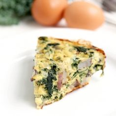Weekend Brunch Kale Frittata... but with a crust in a short cupcake tray...