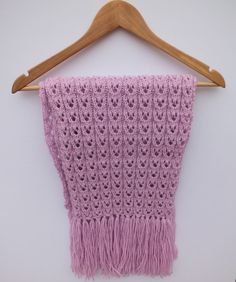 LILA Shawl  hand knit lilac shawl with by SuninVirgoCreations