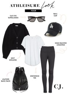 As we head into the weekend, I wanted to share 5 of my go-to athleisure looks. These looks are super comfortable but when wearing you will look pulled together as you run errands, go on family outings and do all of the weekend things! Outfits Spring, Winter Outfits, Casual Outfits, Cute Outfits, Fashion Outfits, Casual Weekend Outfit, Casual Wear, Sneaker Outfits, Athleisure Outfits