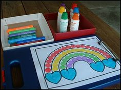 Rainbow party crafts