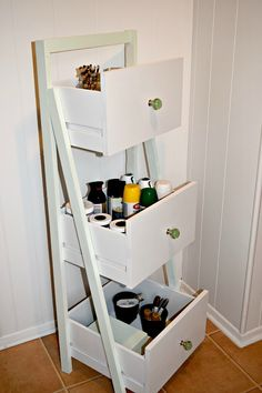 Ladder Shelf From Old Repurposed Drawers DIY Ladder Shelf From Old Repurposed Drawers :: use to hold unassigned fabric?DIY Ladder Shelf From Old Repurposed Drawers :: use to hold unassigned fabric?