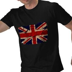Dirty Vintage UK,  Distressed UK flag design by Ricaso,  Dirty vintage UK t-shirt.. cool graphic design tee with the UK flag by Ricaso UK part of the Ricaso