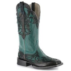 Ariat Women's Cassidy Western Boots in the Mahoghany/Weathered Buckskin color