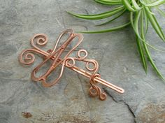 Dragonfly hair barrette or clip by Abby Hook on etsy.  Wow!  Is this cool or what?