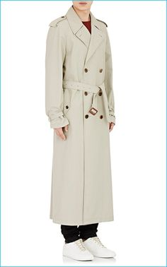 Maison Margiela Twill Double-Breasted Trench Coat