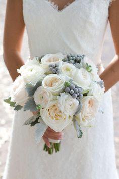 white and gray bridal wedding bouquet brides of adelaide magazine