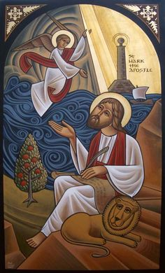Icon of St Mark at St Mark's church, Dorset by Fadi Mikhail