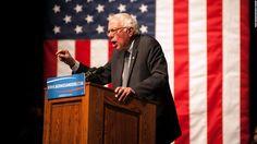Bernie Sanders (D-VT) speaks during a rally on April 5, 2016 in Laramie, Wyoming.