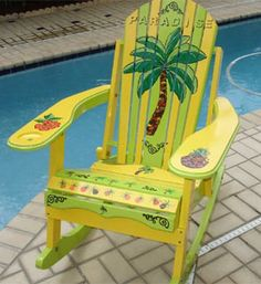 Hand Painted Adirondack Chairs | More Tropical Christmas gifts for the Parrot Heads and beach bums on ...