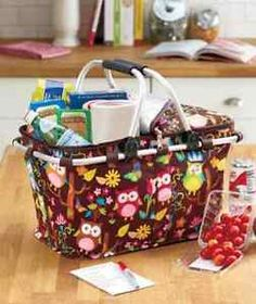 Insulated Tote Basket Cooler at Ebay