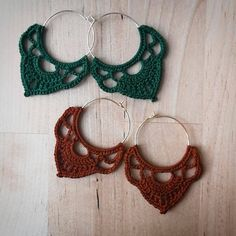 EDITH gehäkelte Creolen von Ohrringal auf Etsy Fancy, Crochet Earrings, Etsy, Vintage, Jewelry, Fashion, Hand Crochet, Craft Gifts, Handmade