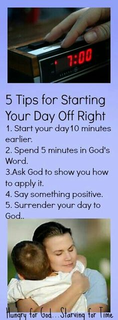 5 tips for starting your day right