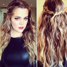 Khloe is my favorite! I want her hair!!