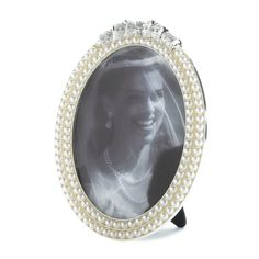 PEARL STRANDS PHOTO FRAME 5X7 PICTURE TABLETOP DISPLAY~10016932