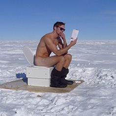 Alexander Skarsgård Naked On A Toilet In The Freezing Tundra.