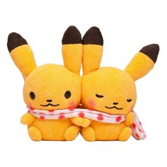 Pokemon Center little tales Pikachu pair Plush Doll.with the bonus item  #PokemonCenter