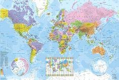 Wereldkaart met tijdzones