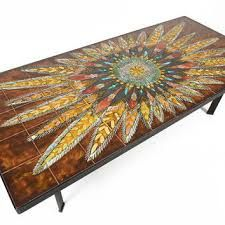 Image result for tile and chrome retro coffee table