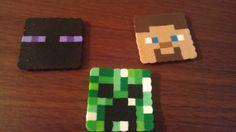 Perler Bead Minecraft Creeper Steve Enderman 1 by TwinSisterCraft, $1.75