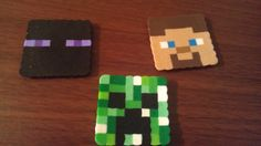 Perler Bead Minecraft Creeper Steve Enderman 1 by TwinSisterCraft, $1.75