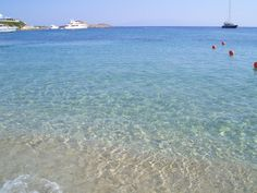 Psarou beach, Mykonos, Greece Mykonos Greece, Most Beautiful, Wanderlust, Island, Vacation, World, Places, Water, Lugares