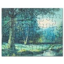 "This jigsaw puzzle is a unique and fun gift for friends and family or even a present to yourself. Once assembled, the puzzle can be framed and displayed or taken apart and reassembled over and over.  30 pieces (7.5"" x 9.5"") Comes with matching photo box for easy storage"