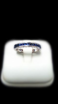 Blue Sapphire Eternity Band (Channel Set)