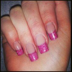 Pink glitter, funfrench