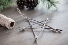 Bring a touch of nature indoors this year as you decorate your tree. Learn how to make rustic twig Christmas ornaments!