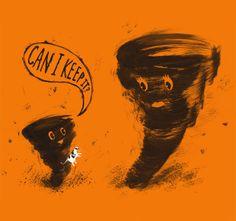 Creative Illustration, Threadless, Brock, Davis, and Humor image ideas & inspiration on Designspiration Communication Art, Modern Metropolis, Tornadoes, It T Shirt, Humor Grafico, Funny Fails, Creative Art, Illustration Art, Book Illustrations